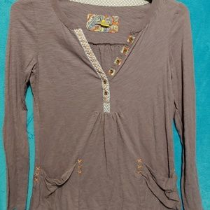 Anthropologie little yellow button size small